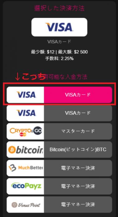 インターカジノ バンドルカード 入金