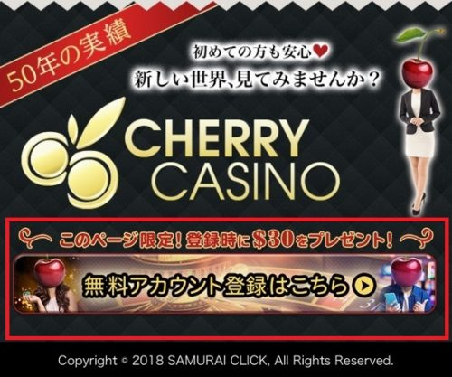 チェリーカジノ 登録1