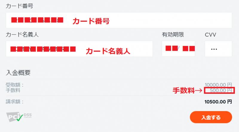 ビットカジノ 入金 クレジットカード2