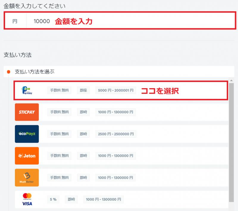 ビットカジノ 入金 銀行振込1